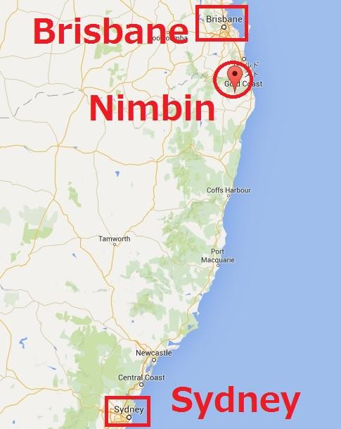 ニンビンへのアクセス地図